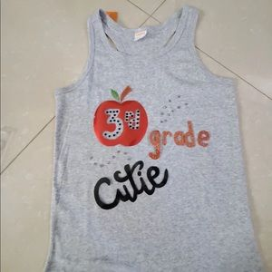NWT Kids Tank Top Back Fit Style Hand Design n Cut